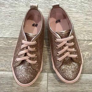 H&M Rose Gold Slip-On Girls Sneakers 10.5